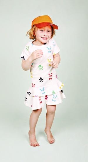 Mini Rodini SS12 Wild At Heart Frill Dress Multi Panda Print