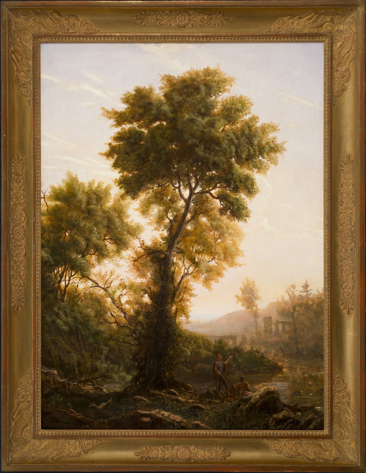 erik koeppel the claudian tree 32 x 24 inches oil