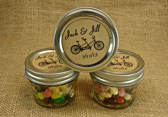 Mason Jar Wedding Favors  Personalized 20 Four by glassactsupply, $45.00