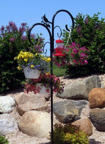 shepherd hooks for hanging baskets | ... Shepherds Hook For Hanging Bird Feeders, Plant Baskets and More at