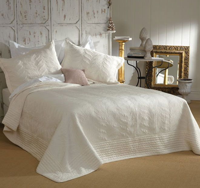 Prudence Cream - Bianca's Prudence is a throw style embroidered bedspread set, made from a soft textured peach skin 100% cotton fabric. This light and easy care design will be sure to transform any room. Co-ordinate with Bianca's Cushion in mink to finish off the space. Features: Floral embroidered design, Pillowshams with tailored edges - #bedspreads