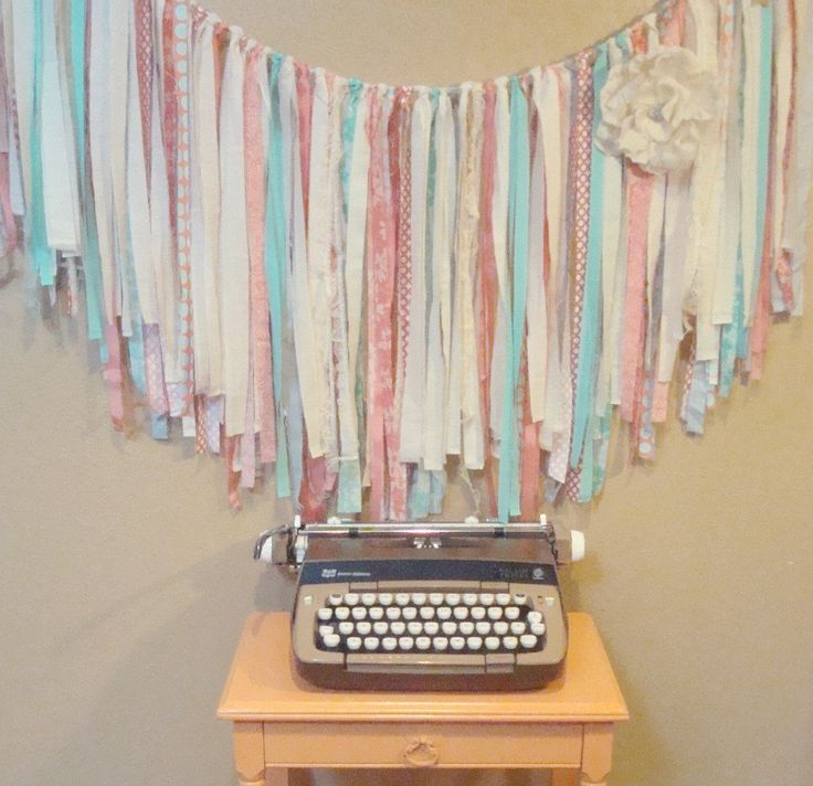 FABRIC GARLAND Ribbon BANNER // custom Garland, Shabby Chic, Romantic, Modern, Rustic, Handmade, Wedding, Nursery, Shower // You PiCK CoLoRs by NorthernCottage on Etsy