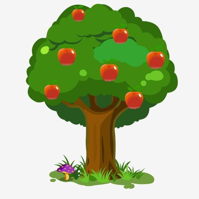 Hand Drawn Cartoon Tree Material Apple Tree Clipart Hand Painted Hand Drawn Plants Png And Vector With Transparent Background For Free Download Cartoon Trees Christmas Tree Painting How To Draw Hands
