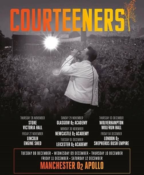 THE COURTEENERS have announced a massive autumn 2015 UK tour to include FIVE O2 Apollo Manchester shows - get in! On sale Weds 26th August --> http://www.allgigs.co.uk/view/artist/51437/The_Courteeners.html
