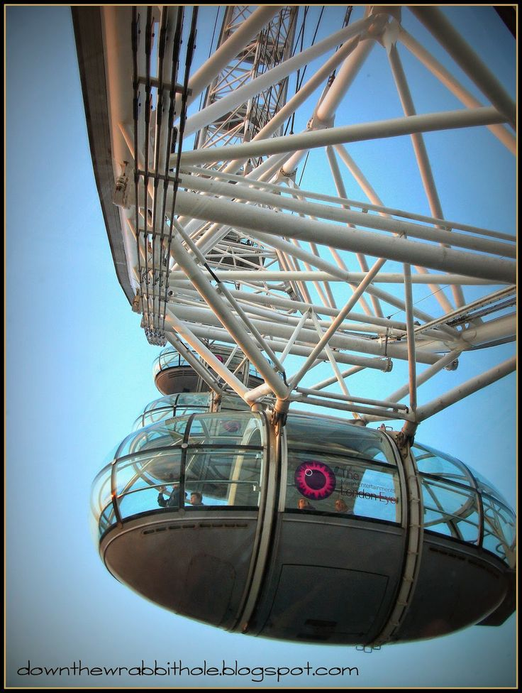 """See how many people you can fit into a pod to ride the London Eye! Find out more at """"Down the Wrabbit Hole - The Travel Bucket List"""". Click the image for the blog post."""