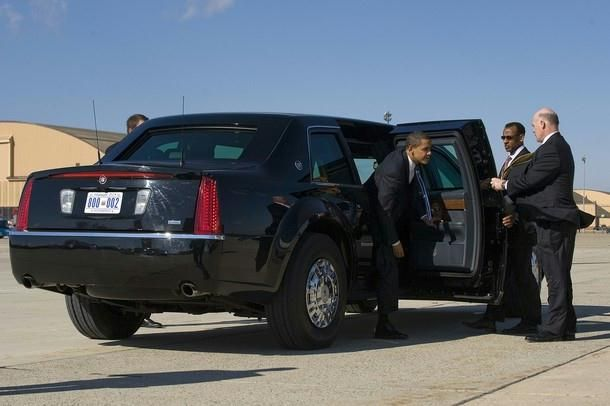 President Barack Obama  exits his limo before boarding Air Force One at Andrews Air Force Base, Maryland, on February 12, 2009. Obama is traveling to Illinois as part of the celebrations marking the 200th birthday of US President Abraham Lincoln.