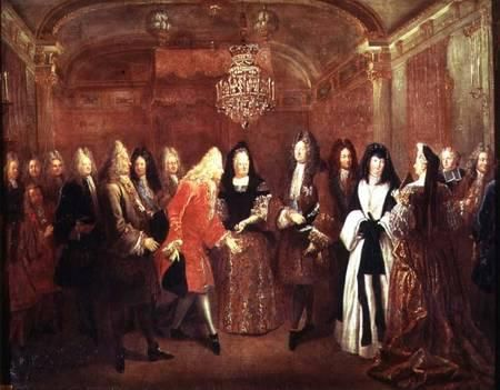 Louis Silvestre, Louis XIV Receiving Frederick Augustus of Saxony; The na-tional Museum of Versailles; ca. 1695.