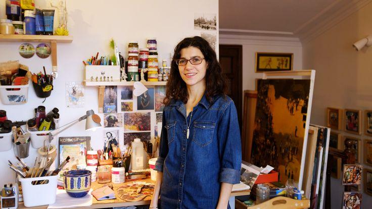 www.kat.io - Derya Ülker - Painter, Atelier, Istanbul Turkey