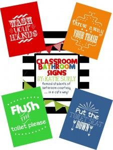 classroom bathroom signs preview