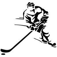 Hockey player car decal