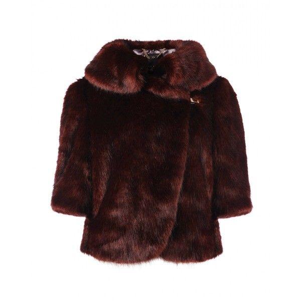 Ted Baker SHUDDA - Faux fur jacket ($365) ❤ liked on Polyvore