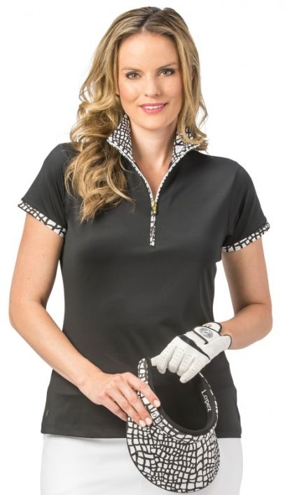 eafd5f786a0 Nancy Lopez takes pride in offering women s golf clothing for all shapes  and sizes. Buy this Black Nancy Lopez Ladies   Plus Size WILD Short Sleeve  Golf ...
