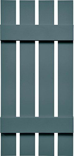 Mid America VSBB162577WWB Spaced Board  Batten Four Board Vinyl Shutter 77 x 1625 Wedgewood Blue *** You can get additional details at the image link.