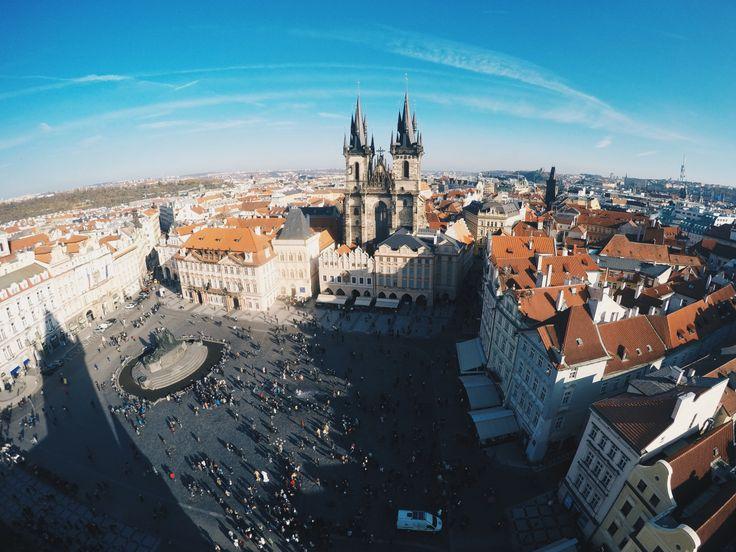 Prague's Old City Hall View! #view #prague