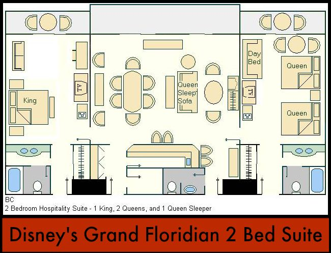 Disney 39 S Grand Floridian Offers Nice Accommodations But The 2 Bedroom Suite Is To Be Coveted