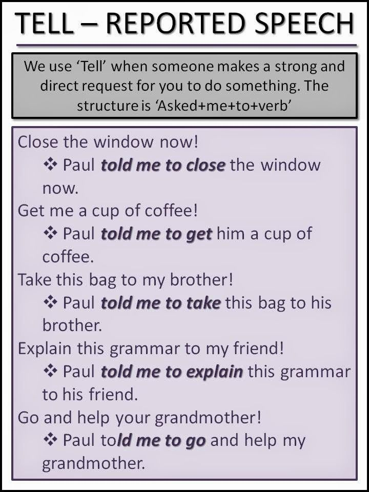 english 203 speech 2 Back to online reported speech exercises with answers and grammar rules go to reported speech pdf rules - printable grammar rules with examples from everyday english to download for free.