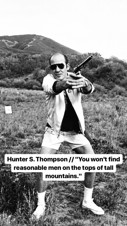 Hunter s thompson pretty words self improvement quotes