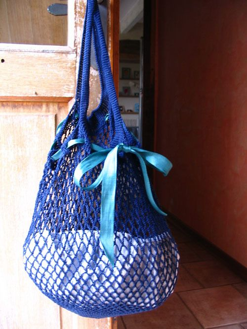 Sac de courses au crochet