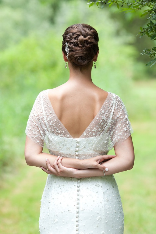 Seriously. I died and cried over this dress. Ok, didn't die but did most definitely cry. LOVE IT! bride + groom - Brae Howard Photography