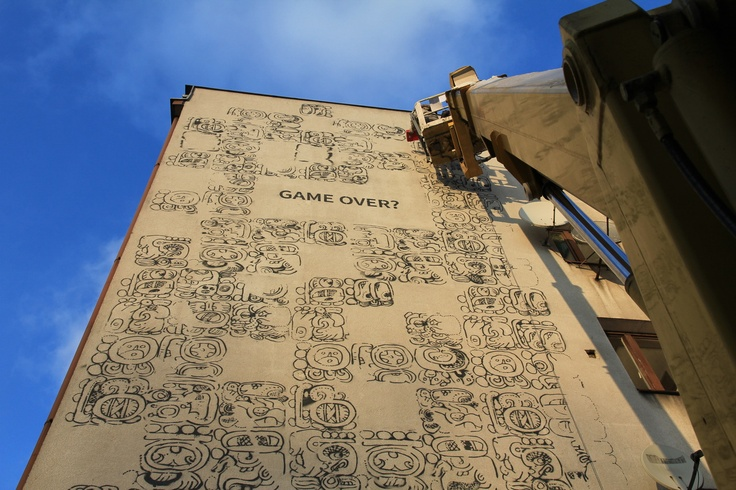 Mayamural Day 2 - 7 dec 2012; part 3 #streetart #graffiti #krakow #maya #mayas #2012