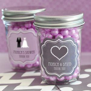Wedding Favors & Party Supplies - Favors and Flowers :: Wedding Favors :: Glass and Crystal Wedding Favors :: Theme Mini Mason Jars