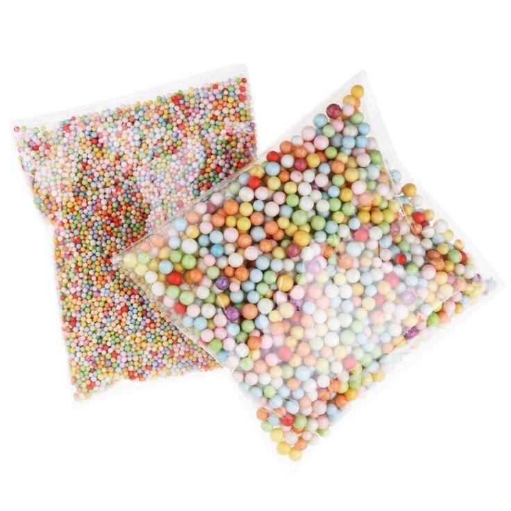 Assorted Colors Polystyrene Styrofoam Gift Box Filler Foam Beads Balls Craft