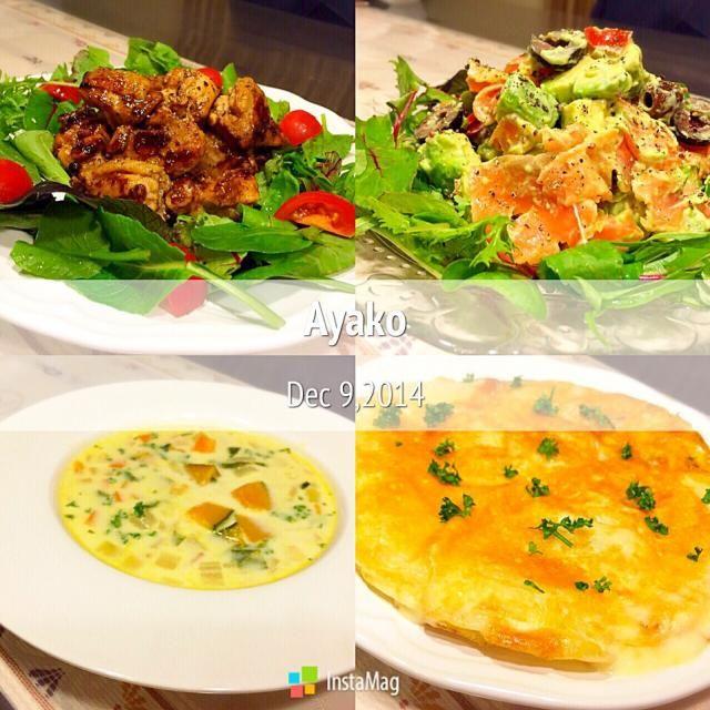 「フリコ」は、イタリア料理で、じゃがいものガレットのようなもの♪ チーズとじゃがいもだけで、簡単に作れます♡ - 126件のもぐもぐ - 鶏肉のバルサミコ酢煮、アボカドとスモークサーモンの粒マスタードサラダ、かぼちゃのチャウダー、フリコ by ayako1015