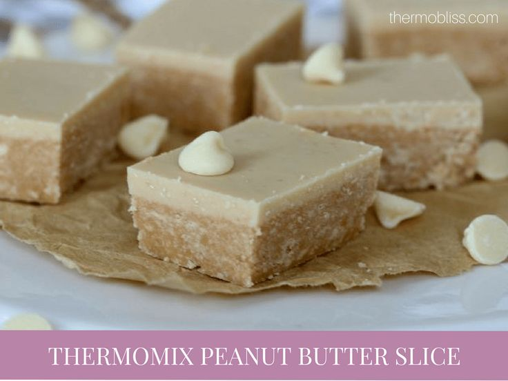 Thermomix Peanut Butter Slice