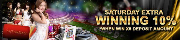 Regal88 Casino Malaysia Saturday Winning extra 10% https://casino-malaysia.com/casino-promotion/regal88-saturday-winning-extra