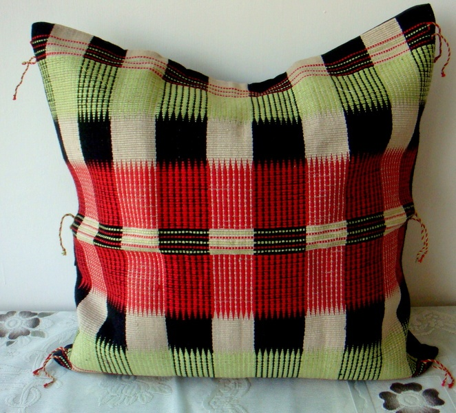 pretty traditional handwoven cushion