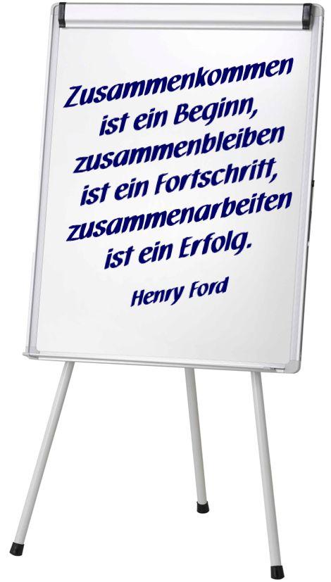 """Zitat von Henry Ford: """"Zusammenkommen ist ein Beginn, zusammenbleiben ist ein Fortschritt, zusammenarbeiten ist ein Erfolg."""" Teamwork, Teamentwicklung, Zusammenarbeit, Kunden gewinnen und binden. Auf der Seite der Referenzen und Kundenkommentare von Niko Bayer."""