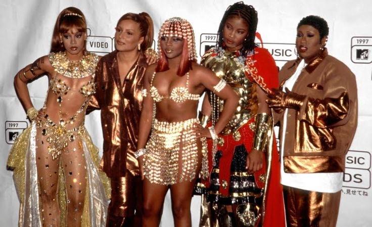 Left Eye, Angie Martinez, Lil Kim, Da Brat, and Missy Elliott :) ! The Golden Age of Female Rappers