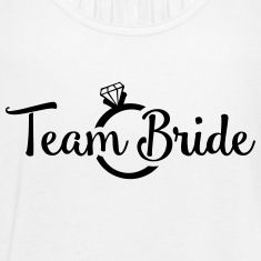 Team Bride shirts to wear for any wedding related party or event.  Jack and Jill, Bachelorette Party, Rehearsal Dinner, etc.  Suitable for the bride's entire wedding party!