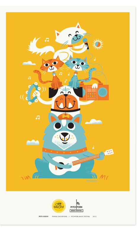 Pets Rock Posters- Tad CarpenterPet Dogs, 3D Character, Rock Posters, Pets Rocks, Dog Cat, Cat Cartoons, Rocks Posters, 3D Cartoons, Cartoons Character