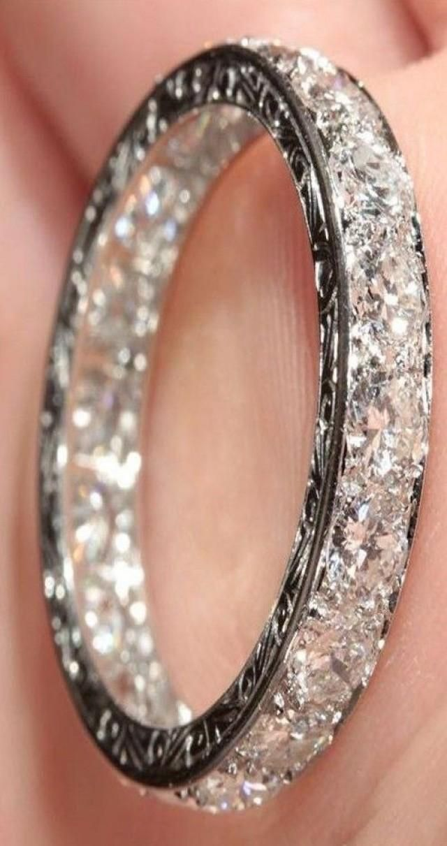 diamond encrusted-wedding band..not engagement ring ring