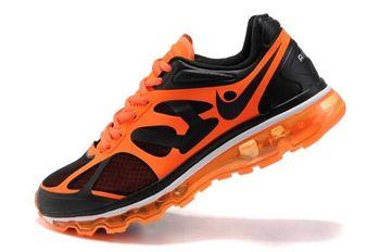 Nike Air Max 2012 Black Orange Mens Shoes For Running