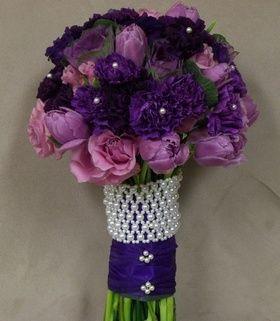 Purple Rose Bouquets For Weddings Royal Bridal Bouquet