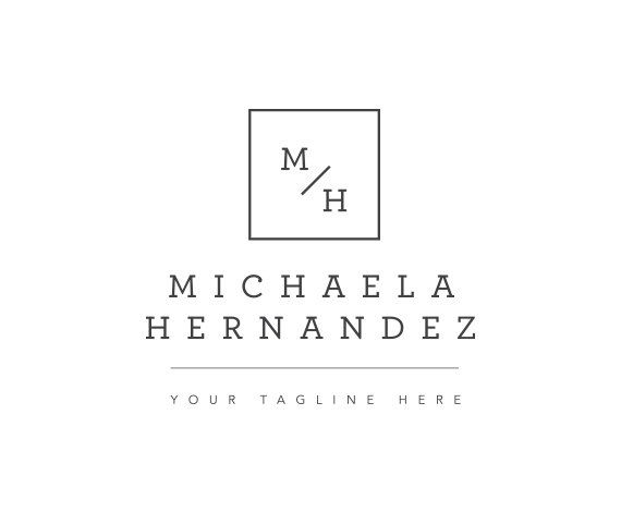 Stamp Logo - Square Logo - Name Logo - Modern Logo Design - Fashion Logo…