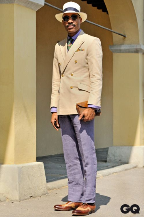 flashback Pitti86 - GQ Italia. Shaun Gordon wears Turnbull and Asser.