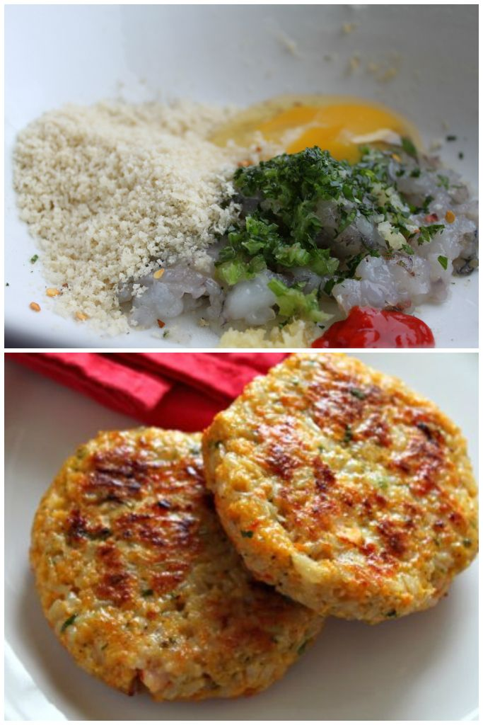 The best shrimp burger recipe around! If you like crab cakes, you'll love these! Made with panko, rice, Sriracha, lemon, parsley, garlic, and scallions!