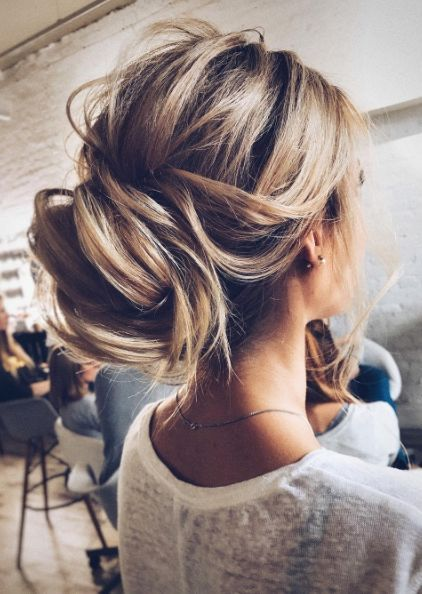 Featured Hairstyle: tonyastylist (Tonya Pushkareva); www.instagram.com/tonyastylist; Wedding hairstyle idea.