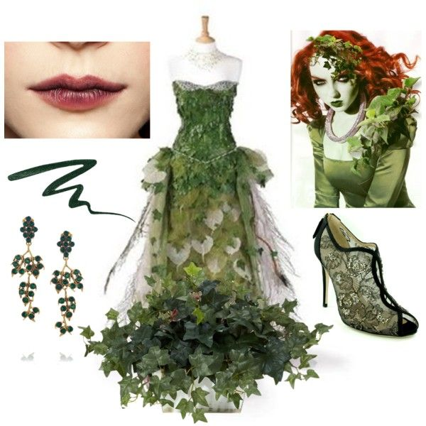 Poison Ivy by kiteshop on Polyvore featuring Valentino, Oscar de la Renta, Smashbox and Nearly Natural