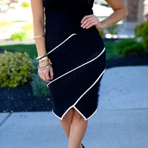 Офис стиль женщина юбка летом юбки карандаш Большой размер свободного покроя формальный шаг пр костюм бизнес юбки бесплатная доставка черный белый купить на AliExpress