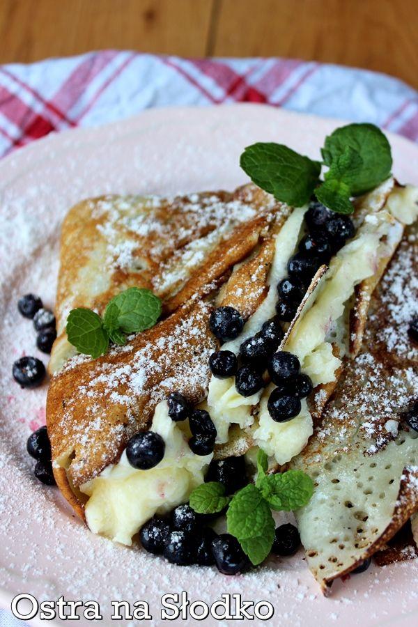 nalesniki z mascarpone , nalesniki z borowkami , nalesniki jagodowe , nalesniki na slodko , ostra na slodko , deser , omlet na slodko (2)xxxx