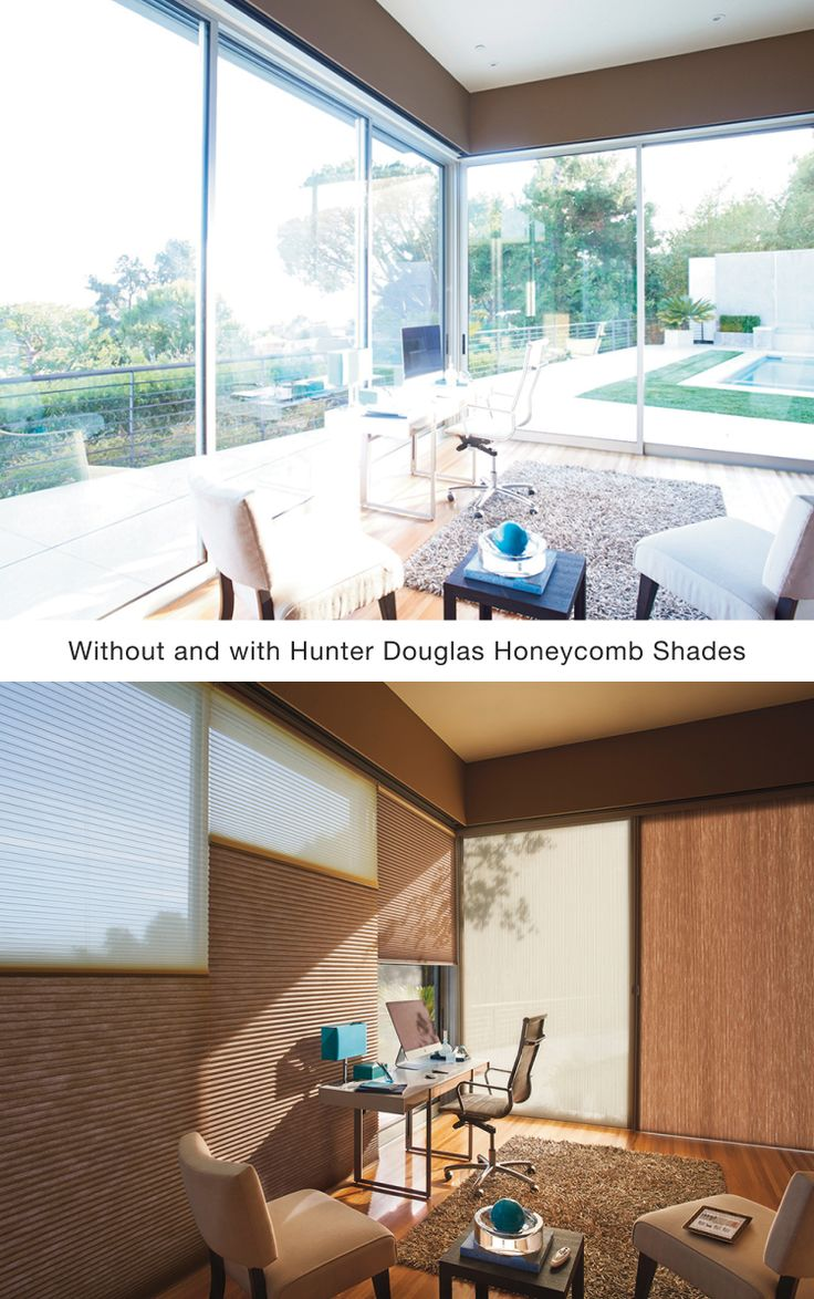 26 best before after images on pinterest sheet curtains window create comfort and style with hunter douglas duolite honeycomb shades hunter douglas window solutioingenieria Image collections