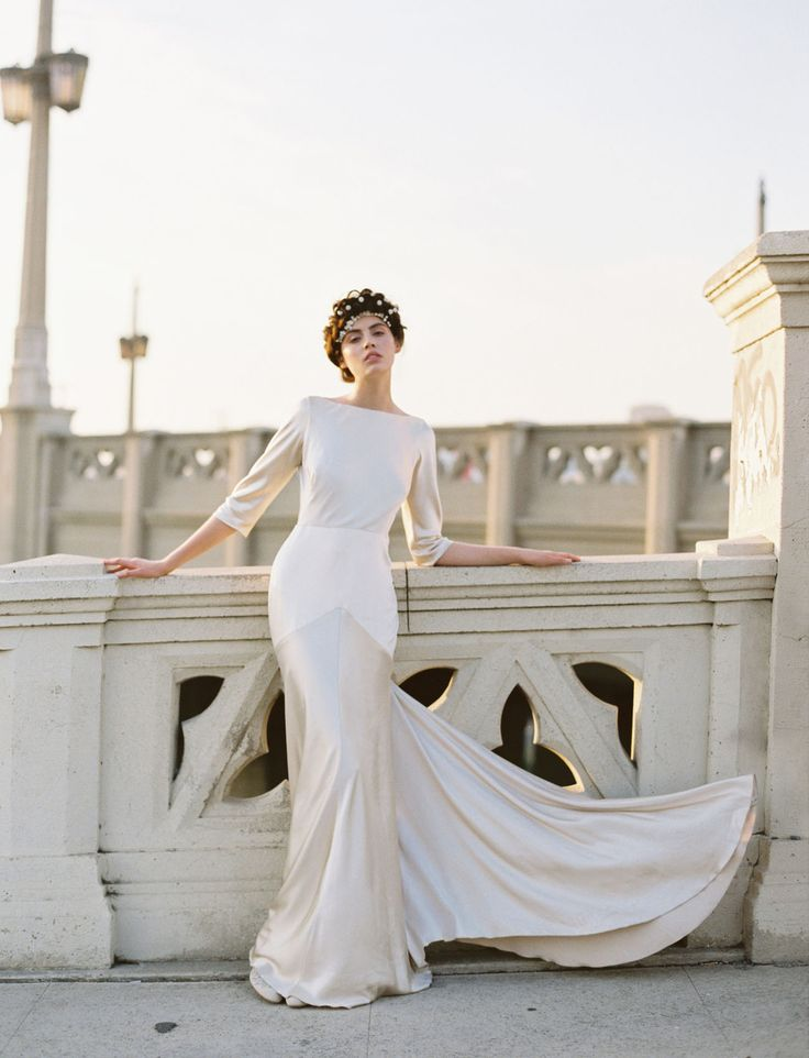 Rebecca Schoneveld modern dress inspired by art deco in Los Angeles