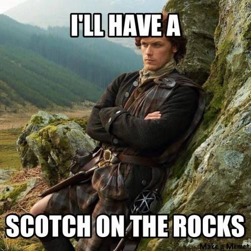 A Scot on the rocks