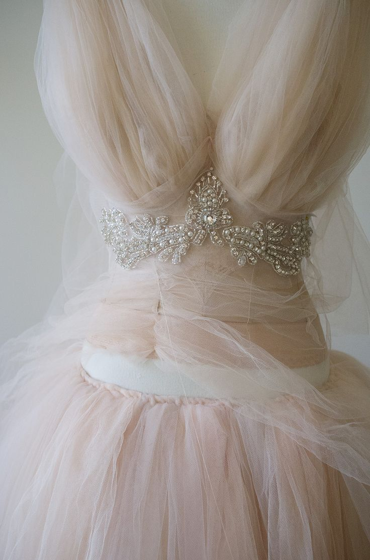 Sue Bryce - Remakes a vintage style long line bra with tulle and decorative beading.