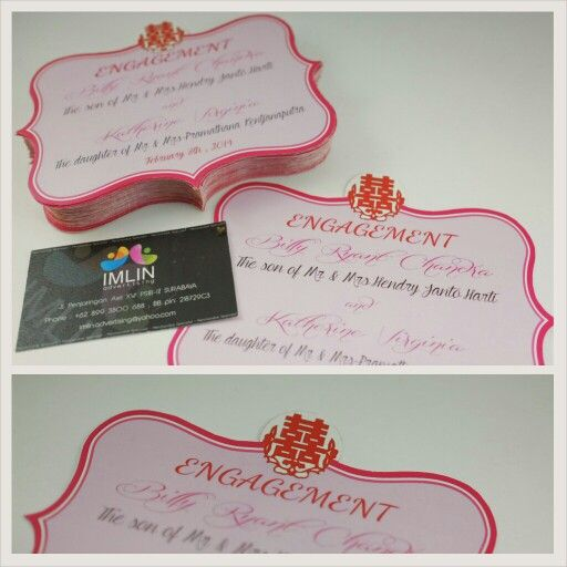Engagement cards production by IMLIN adv