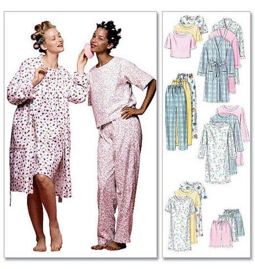 McCall's - M2476 naaipatroon Nachtkleding voor dames, Nachtjapon, Pyjama, Badjas   Naaipatronen.nl   zelfmaakmode patroon online